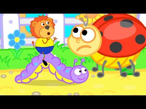 Lion Family Ladybug Assists LIttle Lion Cartoon For Kids