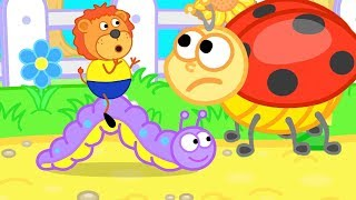 Lion Family Ladybug Assists LIttle Lion Cartoon For Kids