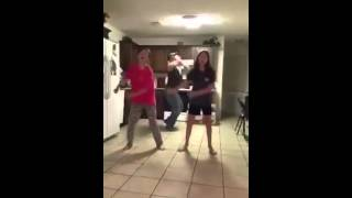 Dad Video Bombs His Daughter Doing the Stanky Leg