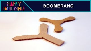 How to make a Simple Boomerang?! Happy Building!