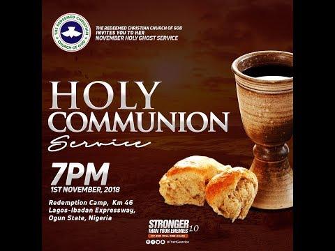 NOVEMBER 2018 RCCG HOLY COMMUNION SERVICE