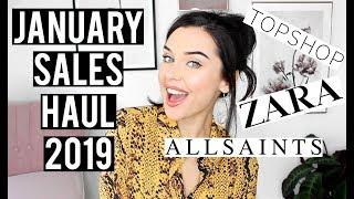JANUARY SALES TRY ON HAUL 2019 ft  TOPSHOP, ZARA & ALL SAINTS | KatesBeautyStation