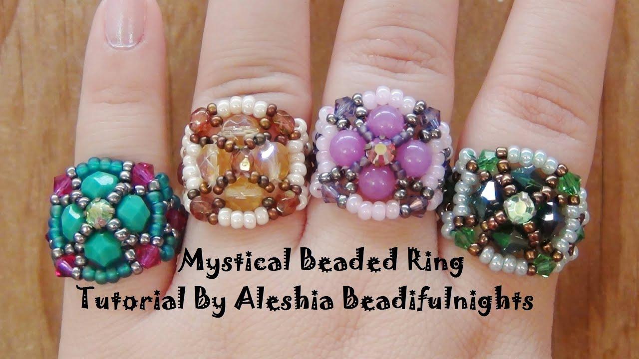 Mystical beaded ring tutorial youtube mystical beaded ring tutorial baditri Choice Image