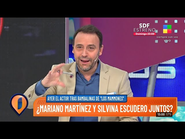 Los rumores de romance entre Mariano Martínez y Silvina Escudero