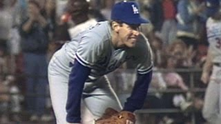 Hershiser sets consecutive scoreless record(9/28/88: Orel Hershiser finishes off the 10th inning against the Padres and sets a new MLB record with 59 consecutive scoreless innings Check out ..., 2014-12-10T20:18:13.000Z)