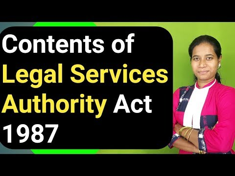 Contents of LEGAL SERVICES AUTHORITY ACT 1987