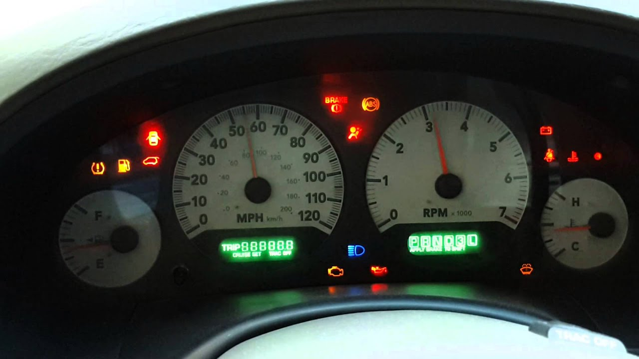 Resetting The Instrument Cluster Panel Dodge