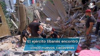 """Una fuente del Ministerio de Salud indicó que en este momento hay """"menos de 20"""" desaparecidos tras la explosión en el puerto de Beirut el pasado martes"""