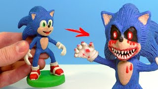 Making SONIC EXE from Sonic the Hedgehog 2020 with Clay
