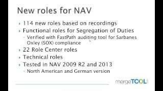 New Recorded Roles for NAV (Directions 2013 ISV Presentation)