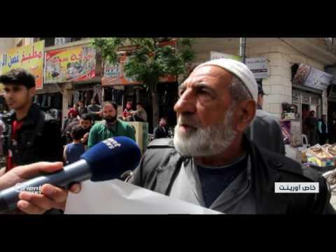 مظاهرة لأهالي مدينة إدلب  يطالبون بخروج المعتقلين  - 21:21-2017 / 4 / 23