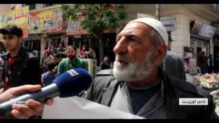 مظاهرة لأهالي مدينة إدلب  يطالبون بخروج المعتقلين