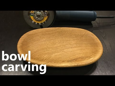 Power Carving a Oak Bowl