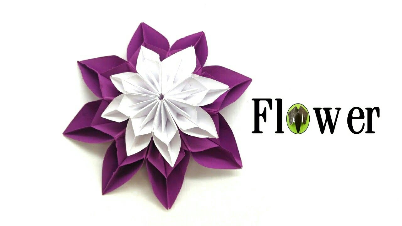 8 Petals Flower Diy Tutorial By Paper Folds 824 Youtube