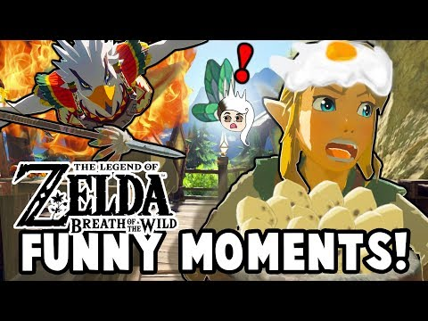 WHY YOU SHOULD NEVER BREAK AN EGG IN RITO VILLAGE!  Zelda: Breath Of The Wild Funny Moments