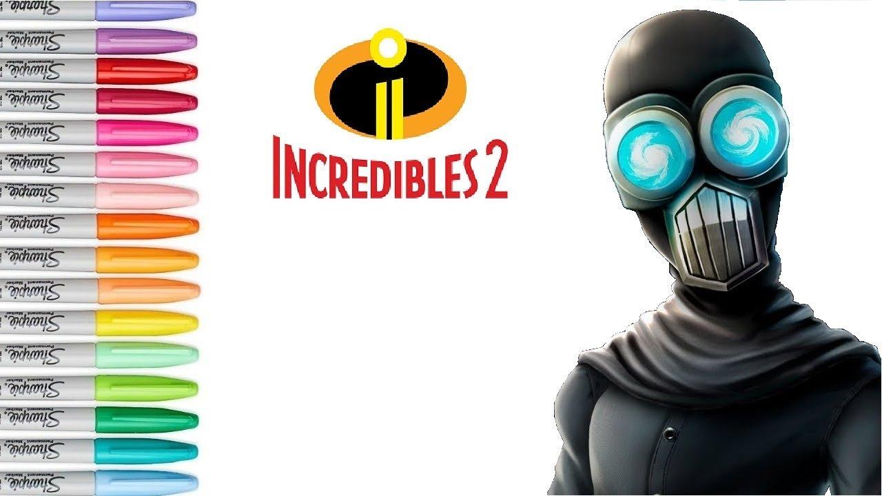 Disney The Incredibles 2 Screenslaver Villain Coloring
