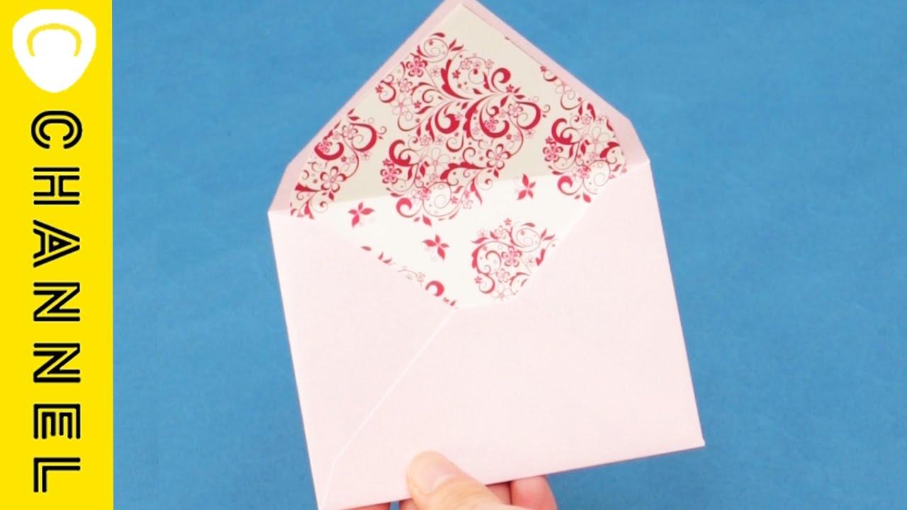 おもてなし封筒の作り方 Envelope Liner Tutorial Youtube