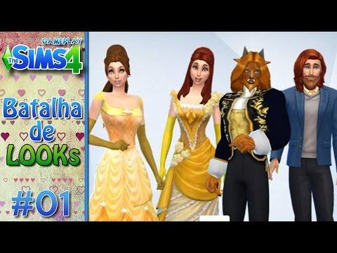 A BELA E A FERA - Batalha de Looks no The Sims 4 #1