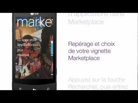 LG Optimus 7 - Téléchargement d'applications dans Marketplace