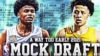 A WAY TOO EARLY 2021 NBA MOCK DRAFT! Ft.(JALEN GREEN, CADE CUNNINGHAM, BJ BOSTON)