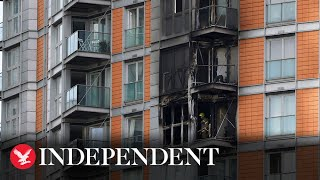 Fire breaks out at London tower block 'covered in Grenfell cladding'