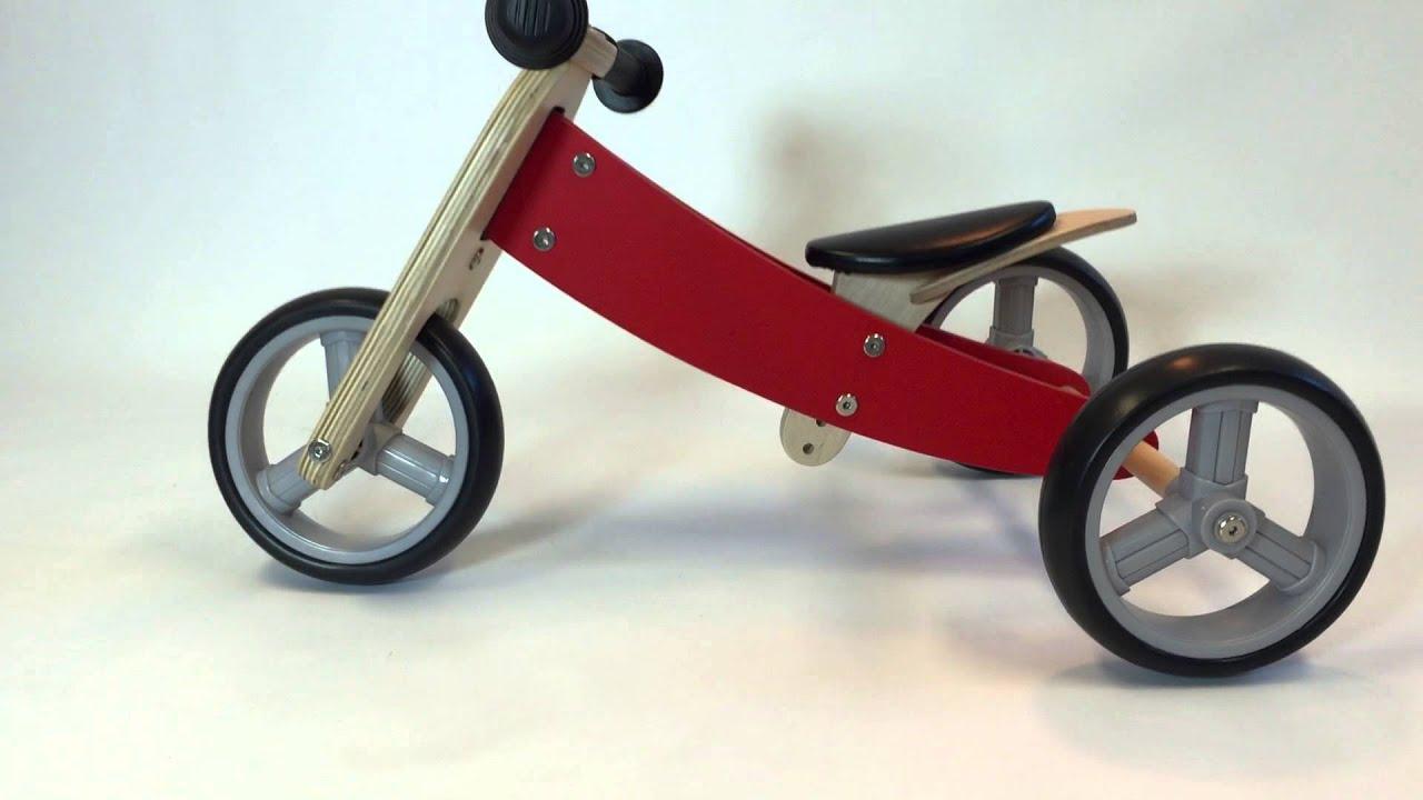 Betere Bandits & Angels - houten loopfiets Smart bike 4in1 rood. Van GJ-48