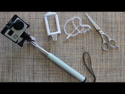 Монопод для экшн камеры из селфи палки Фикс Прайс за 100 рублей DIY