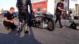 Rikard Gustafsson, Top Fuel Bike, first outing.