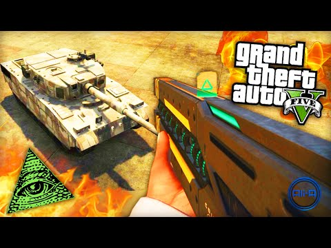 GTA 5 Funny Moments - 'RAILGUN vs TANK!' - (Grand Theft Auto V PS4 Gameplay)