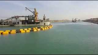New Suez Canal scene in March 26, 2015