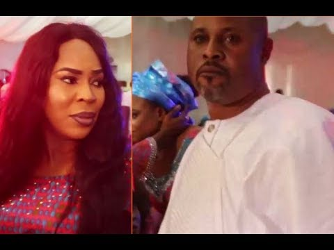 At Last! Fathia & Saidi Balogun Are Back Together,Hug &Talk In Public For The 1st Time In 10 Years