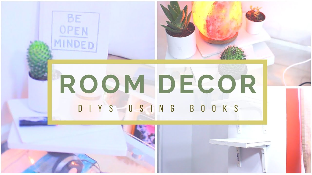 Diy Room Decor Using Old Books Youtube