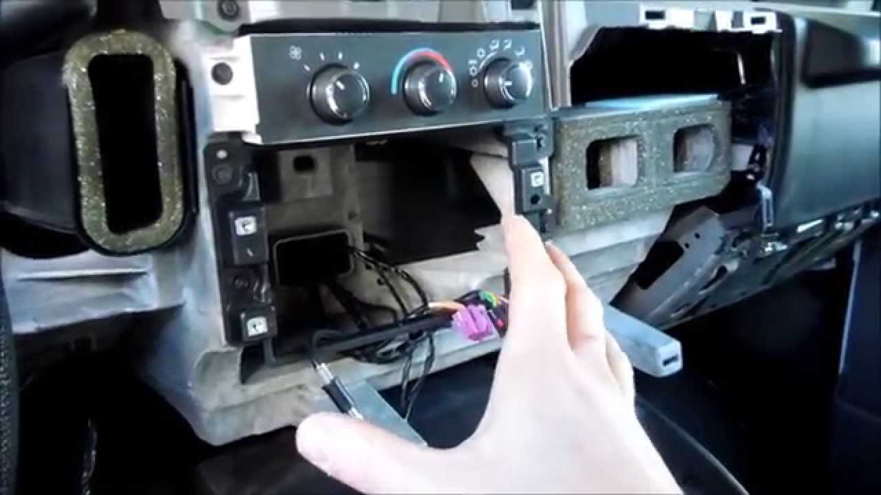how to install a aftermarket radio and a alpine powerpack ktp 455u in a chevy express 2011 [ 1280 x 720 Pixel ]