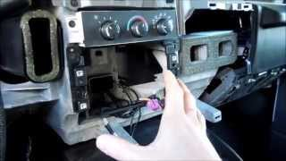 how to install a aftermarket radio and a alpine powerpack ktp 455u in a chevy  express 2011 - youtube  youtube