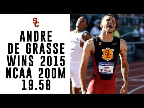 USC Track & Field - Andre De Grasse Wins NCAA 200m