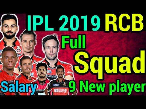 IPL 2019: RCB Full Suad IPL 2019, Royal challengers Bangalore Full Squad 2019