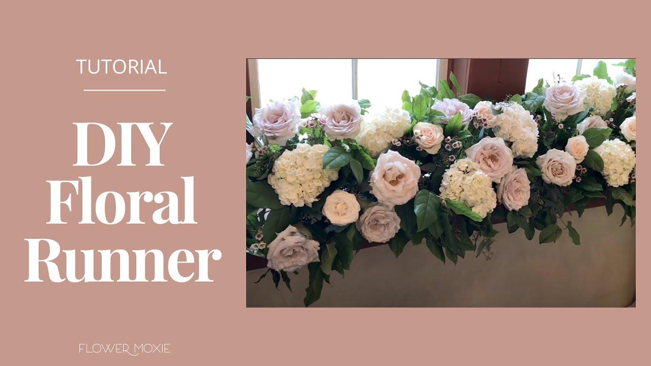 Flower Moxie Diy Floral Runner Youtube