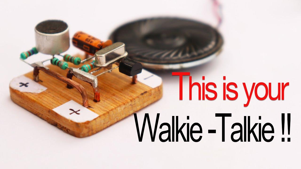 Make a 500m Range  #Walkie-Talkie in easiest way (part 1)