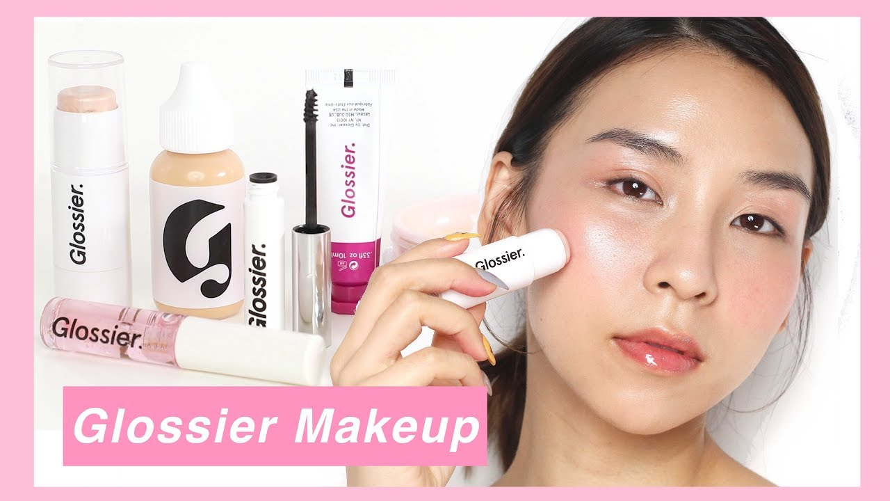 Full Face of Glossier Makeup – TINA TRIES IT – YouTube