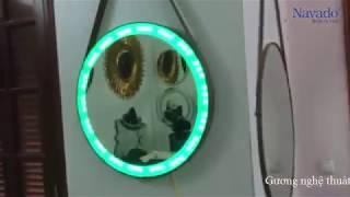Gương trang điểm dây da đèn led Hà Nội -0961 430 111