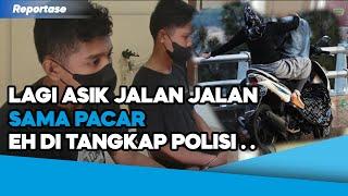 PELAKU CURANMOR DITANGKAP POLISI PAS LAGI ASIK JALAN JALAN SAMA PACAR . .