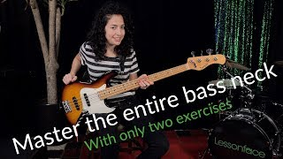 Master the entire bass neck with only two exercises