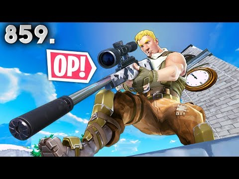 *NEW* SUPPRESSED SNIPER BEST PLAYS!! - Fortnite Funny WTF Fails and Daily Best Moments Ep. 859