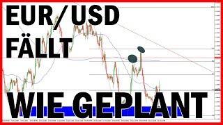 Wie geplant! - EUR/USD Forex Trading FÄLLT für Anfänger (Deutsch) mit Strategie