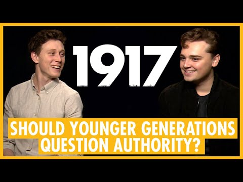 """Question Authority"" - George MacKay & Dean-Charles Chapman 1917 Interview"