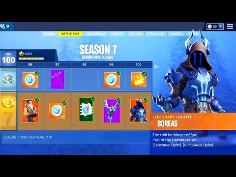 SEASON 7 BATTLE PASS TIER 100 SKIN UNLOCKED! Fortnite Battle Royale Season 7!
