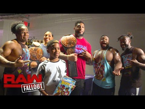 Houston Texan Devon Still hangs out backstage at Raw: Raw Fallout, Aug. 29, 2016