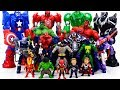 Power Rangers & Marvel Avengers Toys Pretend Play | SPIDER HULK Rescue BATMAN From Villains