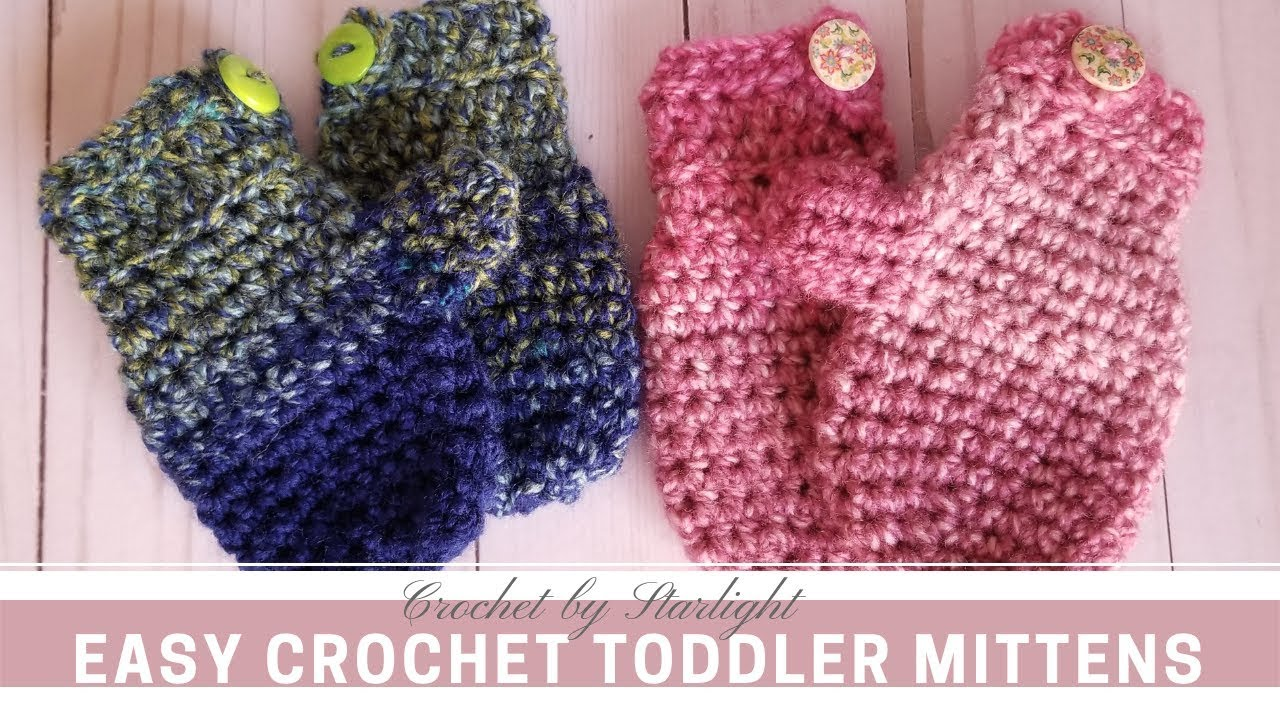 Easy Crochet Toddler Mittens Youtube