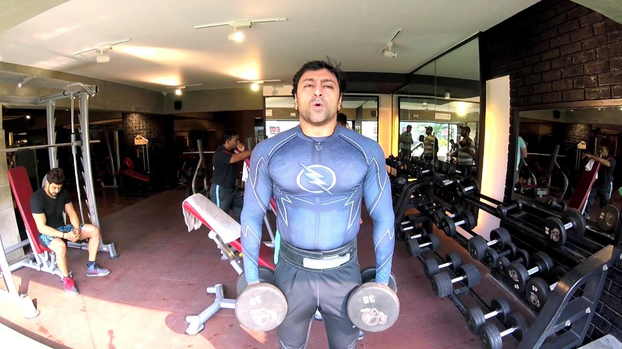 Ravi Seths Vlog 1160 Heavy Shoulder Workout In Sykz Gym Youtube